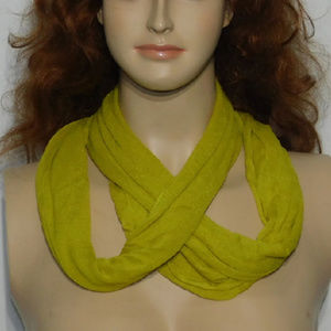 Scarf, multiple wrap around styles. Soft, stretchy